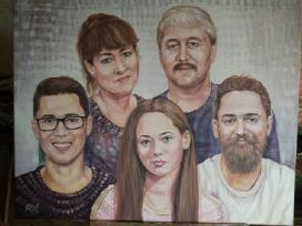Šeimos portretas.Drobė,akrilas,80/100 - nuotraukos Nr. 17