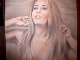 Merginos portretas.Pastele,sepija,grafit - nuotraukos Nr. 19