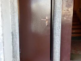 Plieninės durys dažytos milteliniu būdu