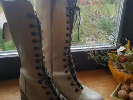 Odiniai ilgaauliai /batai su kailiu moterims
