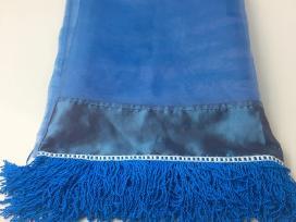 Šventinė mėlyna staltiesė
