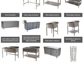 Nerūdijančio plieno baldai, baldų gamyba