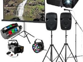 Šviesos, garso, karaoke,vaizdo projektoriaus nuoma