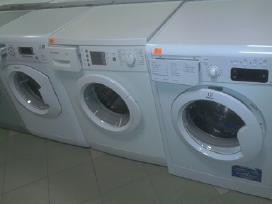 Nukainuotos ir naudotos skalbimo mašinos.