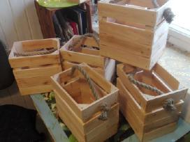 Medinės dėžes - nuotraukos Nr. 13