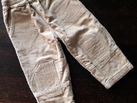 Rusvos kelnės su pamušaliuku 80 dydis