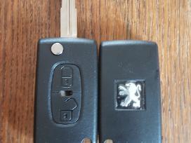 Peugeot raktai 307 407 206 607 207 raktas korpusai - nuotraukos Nr. 3
