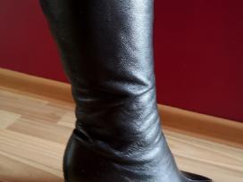 Juodi ilgaauliai žieminiai batai