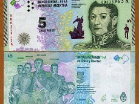 Argentina 5 Peso 2015m. P359 Unc