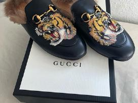 Nauji odiniai Gucci bateliai/slepetes su kailiu - nuotraukos Nr. 5