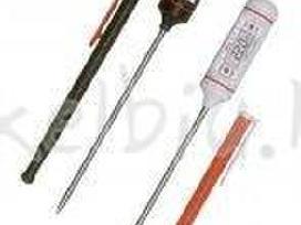 Termometrai skystiniai, elektroniniai su patikra
