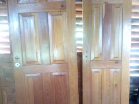 Medines durys pirties dvigubos