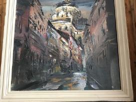 Arvydo Zdanavičiaus paveikslas Vilniaus Senamiesti