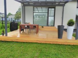 Akcija-maumedžio teraso įrengimas nuo 69 eur už m2