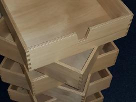 Medinės lentynėlės / stalčiukai / dėžutės