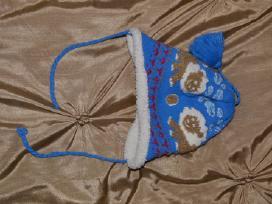 Silta ziemine melyna kepure, 50% vilna