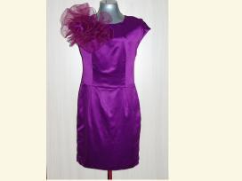 Nauja violetinė proginė suknelė su organzos gėle