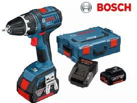 Naujas Bosch Gsr 18 V-li 2x4ah suktukas