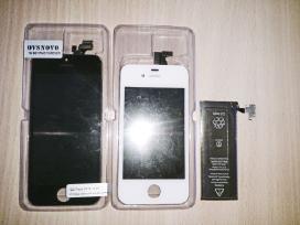 iPhone 4S ir iPhone 5 ekranai ir baterija
