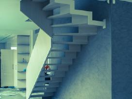 Laiptai(pakopos,porankiai) iš medžio,metalo.