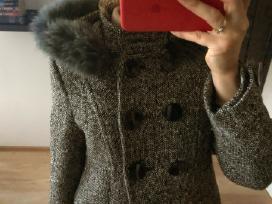 Žieminis paltas su kailiu