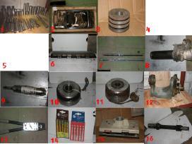 Įvairūs metalo apdirbimo įrankiai, prietaisai.