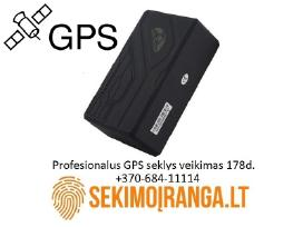 Profesionalus GPS seklys budėjimo laikas iki 178d.