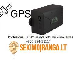Profesionalus GPS seklys veikimas 60 parų