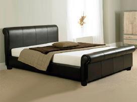 Naujos odinės lovos su naujais čiužiniais