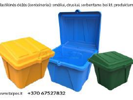 Plastikinės dėžės smėlio/druskos mišiniui, sorbent