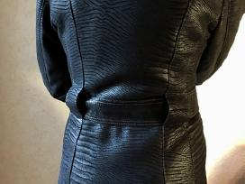 Visiškai naujas paltas, juodsidabrės lapės kailis