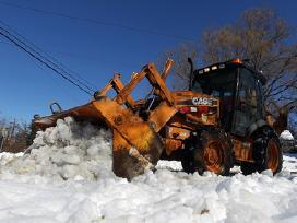 Sniego valymas, Ekskavatoriaus Nuoma - Šiauliai