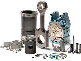 Statybinės technikos variklio dalys