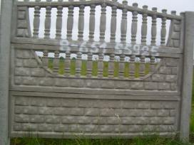 Betoninės tvoros, vartai, šulinio žiedai,suolai. - nuotraukos Nr. 2