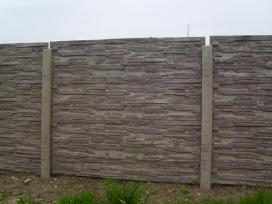 Betoninės tvoros, vartai, šulinio žiedai,suolai. - nuotraukos Nr. 3