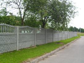 Betoninės tvoros, vartai, šulinio žiedai,suolai. - nuotraukos Nr. 6