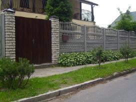 Betoninės tvoros, vartai, šulinio žiedai,suolai. - nuotraukos Nr. 7