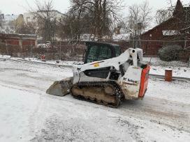 Bobcat, mini krautuvas, sniego valymas