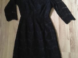 Juoda gipiūrinė suknelė