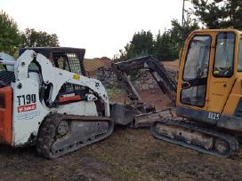 Vikšrinio Bobcat nuoma žemės kasimo darbai Alytuje