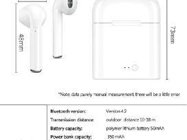 Ausinės Airpods analogas I7s Tws iPhone/android - nuotraukos Nr. 4