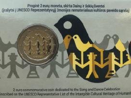 2 eurų moneta, skirta Dainų ir šokių šventei (Bu)
