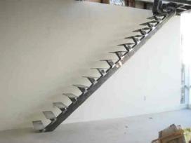 Metaliniai laiptai tureklai vartai gamyba montavim