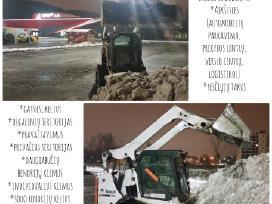 Vikšrinio Bobcat sniego valymo paslaugos_nuoma