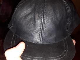 Odinė kepurė su snapeliu, juoda, nauja