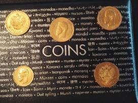 Brangiausiai pirksiu auksines monetas: rublius, $.