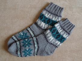 Naturalios vilnos siltos,megztos rankomis kojines