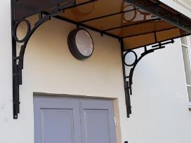Stogeliai,stoginės virš durų,balkonų,garažų,terasų