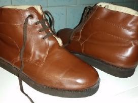 Žieminiai odiniai batai su kailiu (rudi) - nuotraukos Nr. 2