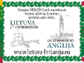 Šeštadienį į Angliją - antrad į Lietuvą